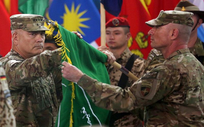 Declares end of US troops