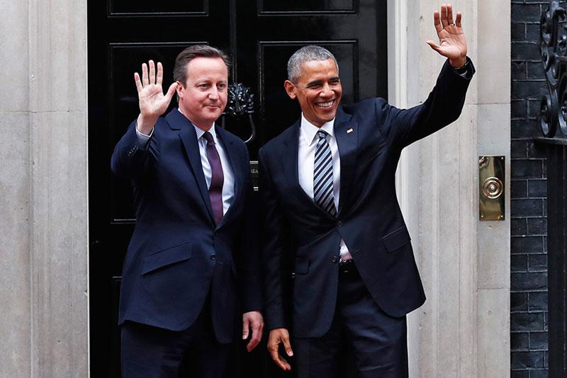 press conference with British Prime Minister David Cameron