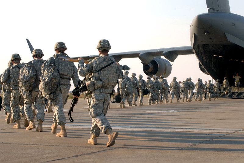 withdrawal of all US troops stationed in Iraq