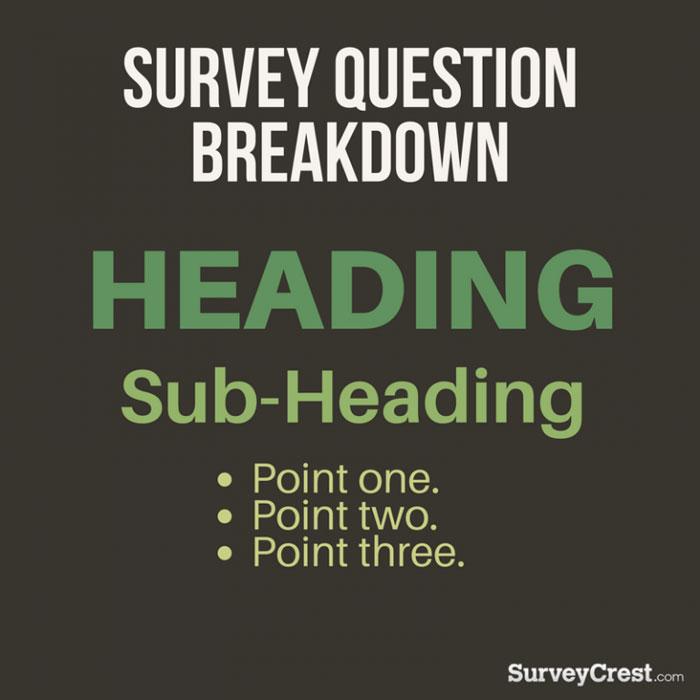 Survey Question Breakdown